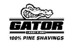 GATOR LARGE FLAKE 100% PINE SHAVINGS Trademark of JSB