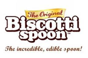 THE ORIGINAL BISCOTTI SPOON THE INCREDIBLE, EDIBLE SPOON!