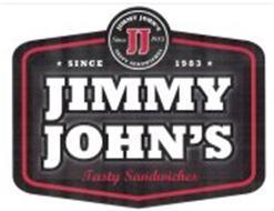 JJ SINCE 1983 JIMMY JOHN'S TASTY SANDWICHES SINCE 1983 JIMMY JOHN'S TASTY SANDWICHES