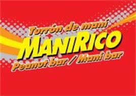 TURRÓN DE MANI MANIRICO PEANUT BAR/MANI BAR