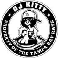 TB DJ KITTY PROPERTY OF THE TAMPA BAY RAYS