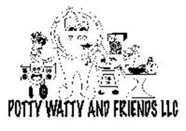 POTTY WATTY AND FRIENDS LLC 1 2 3 4 5 6 7 8 9 10 11 12 12:00 POTTY WATTY TRASH CAN HOT COLD SUDSY SOAP