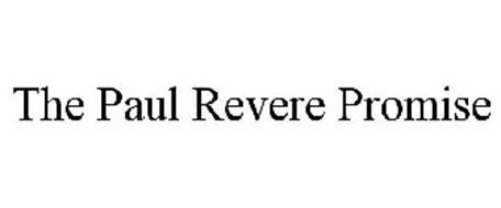 THE PAUL REVERE PROMISE
