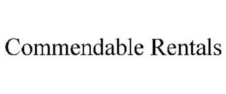 COMMENDABLE RENTALS