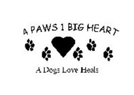 4 PAWS 1 BIG HEART A DOGS LOVE HEALS