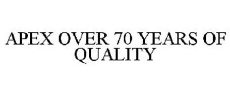 APEX OVER 70 YEARS OF QUALITY