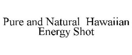 PURE AND NATURAL HAWAIIAN ENERGY SHOT