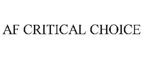 AF CRITICAL CHOICE