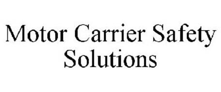 Motor carrier safety solutions llc trademarks 3 from for Motor carrier safety regulations
