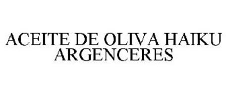ACEITE DE OLIVA HAIKU ARGENCERES