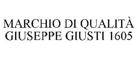 MARCHIO DI QUALITÀ GIUSEPPE GIUSTI 1605