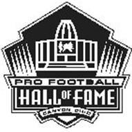 PRO FOOTBALL HALL OF FAME CANTON, OHIO