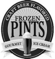CRAFT BEER FLAVORED FROZEN PINTS GOURMET ICE CREAM