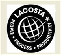 LACOSTA PEOPLE PROCESS PRODUCTIVITY