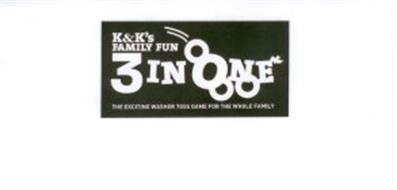 K&K'S FAMILY FUN 3 IN ONE THE EXCITING WASHER TOSS GAME FOR THE WHOLE FAMILY