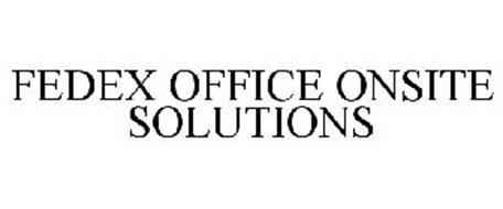 FEDEX OFFICE ONSITE SOLUTIONS