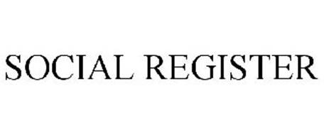 SOCIAL REGISTER