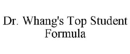 DR. WHANG'S TOP STUDENT FORMULA