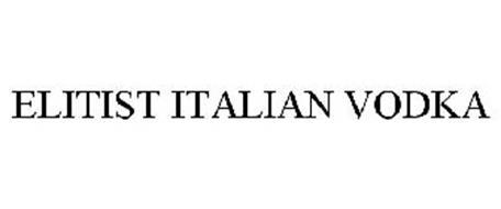ELITIST ITALIAN VODKA