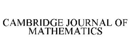 CAMBRIDGE JOURNAL OF MATHEMATICS
