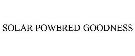 SOLAR POWERED GOODNESS