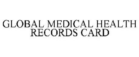 GLOBAL MEDICAL HEALTH RECORDS CARD