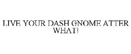 LIVE YOUR DASH GNOME ATTER WHAT!