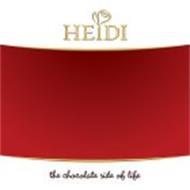 HEIDI THE CHOCOLATE SIDE OF LIFE