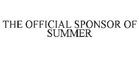 THE OFFICIAL SPONSOR OF SUMMER