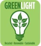 GREENLIGHT RECYCLED · RENEWABLE · SUSTAINABLE