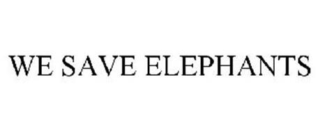 WE SAVE ELEPHANTS