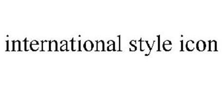 INTERNATIONAL STYLE ICON