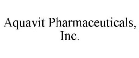 AQUAVIT PHARMACEUTICALS, INC.