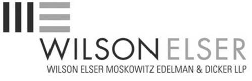 WE WILSON ELSER WILSON ELSER MOSKOWITZ EDELMAN & DICKER LLP