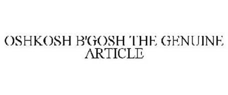 OSHKOSH B'GOSH THE GENUINE ARTICLE