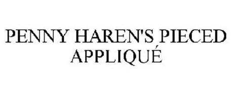 PENNY HAREN'S PIECED APPLIQUÉ