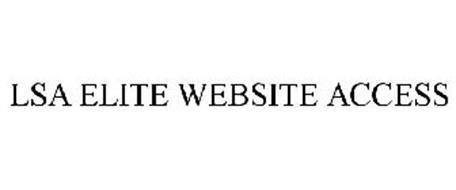 LSA ELITE WEBSITE ACCESS