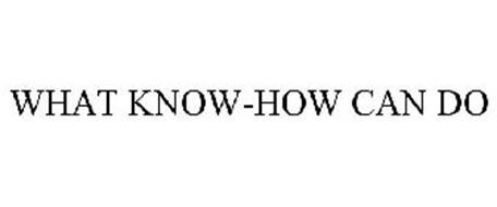 WHAT KNOW-HOW CAN DO