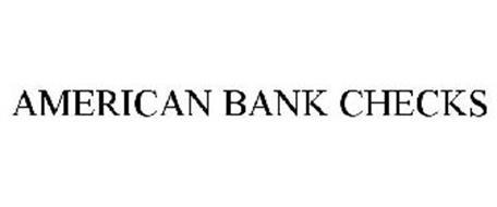 AMERICAN BANK CHECKS