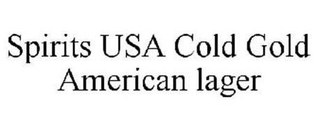 SPIRITS USA COLD GOLD AMERICAN LAGER