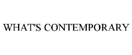 WHAT'S CONTEMPORARY