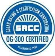 SOLAR RATING & CERTIFICATION CORPORATION SRCC OG-300 CERTIFIED ESTABLISHED 1980