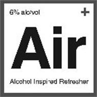 6% ALC/VOL + AIR ALCOHOL INSPIRED REFRESHER