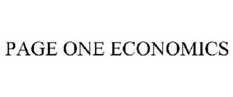 PAGE ONE ECONOMICS