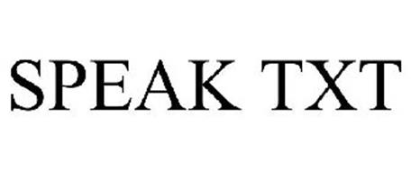 SPEAK TXT