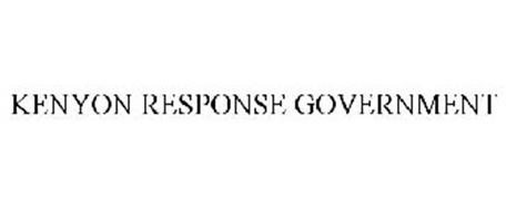 KENYON RESPONSE GOVERNMENT