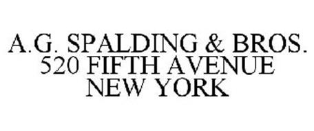 A.G. SPALDING & BROS. 520 FIFTH AVENUE NEW YORK