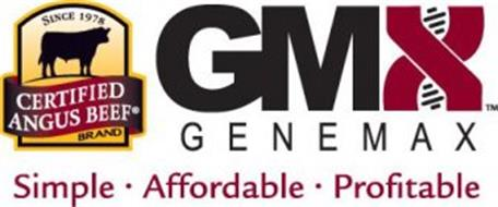 SINCE 1978 CERTIFIED ANGUS BEEF BRAND GMX GENEMAX SIMPLE · AFFORDABLE · PROFITABLE