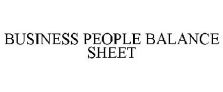BUSINESS PEOPLE BALANCE SHEET