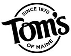 SINCE 1970 TOM'S OF MAINE